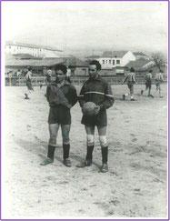 Campo de fútbol detrás de la plaza de las fraguas, años 60, lo que sería ahora la calle las Vegas. Fotografía cortesía de Alberto García
