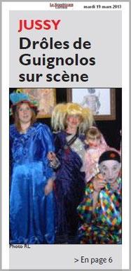article_de_presse_RL_190313_1ere_couverture_LES_GuiGnOlOs_spectacle_theatral_pour_enfants_et_la_famille_saison_2012_2013_JUSSY_SAINTE-RUFFINE