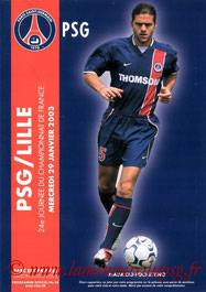 Programme  PSG-Lille  2002-03