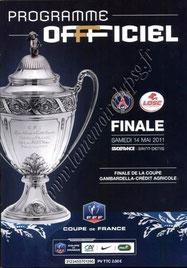 2011-05-14  PSG-Lille (Finale CF au Stade de France, Programme officiel FFF)