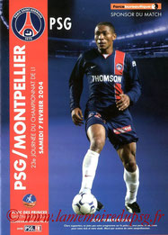 Programme  PSG-Montpellier  2003-04