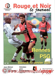 Programme  Rennes-PSG  2001-02