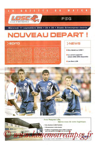 Programme  Lille-PSG  2002-03
