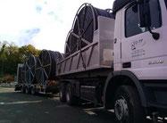 ED-TP Naucelle Aveyron transport de touret pour fibre optique
