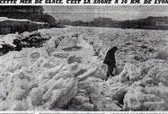 mer de glace sur la Saône (photo internet)