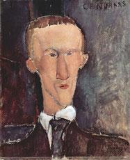Modigliani, Portrait de Cendrars, 1917.