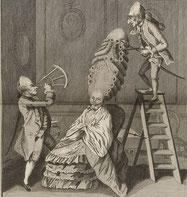 Coiffure de grand goût. L'Art de la coiffure des dames. Legros, 1767. BNF.