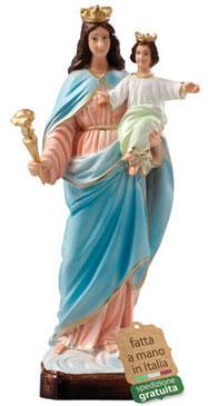 statua Maria Ausiliatrice in resina cm. 30