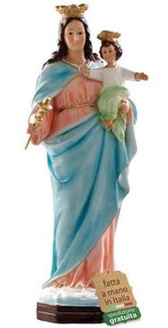 statua Maria Ausiliatrice in resina cm. 44