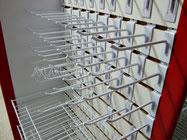 Ganchos para panel ranurado, accesorios para exhibipanel