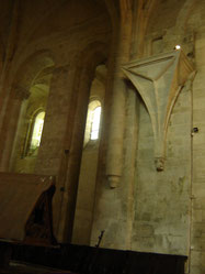 tribune de pierre dont la fonction reste encore un mystère... tribune d'orgue, chaire à prêcher ???