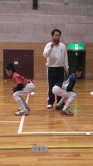 野球少年 スクワット トレーニング スポーツバランス