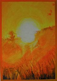 sonnenaufgang in gelb rötlich