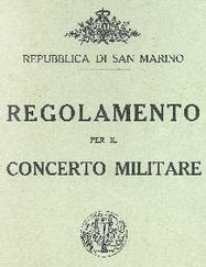 REGOLAMENTO BANDA MILITARE DI SAN MARINO 1932