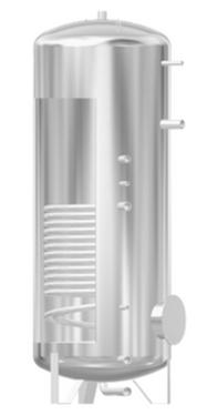 WPX Edelstahlboiler mit grossem Wärmetauscher von Solar hoch 2