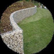 Mur de soutènement en gabions gabion