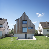 esp-architekten, Holzfassade, Anbau, Holzbau, Holz-Alu-Fenster, Gaube