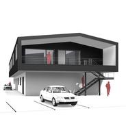 esp-architekten, Aufstockung, Holzbau, Holzfassade, Stahltreppe