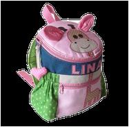 Rucksack für Mädchen mit Namen
