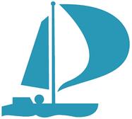 Illustration eines blauen Segelbootes als Symbol für «Berufliche Reintegration».