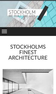 Stockholm トップページ スマホ