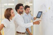 Exemple management visuel entreprise de projet, la méthode obeya en mode agile.