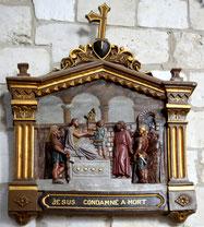 1ère station du chemin de croix de l'église d'Arquèves