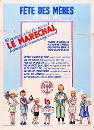 Affiche de la Fête des Mères en 1941.