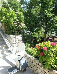 Mit dem Außenlift bequem in den Garten