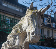 Einhorn-Statue in Saint Lô in der Normandie, erschaffen vom Künstler  Philippe Rebuffet