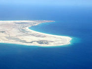 Air image of Sal's southern tip