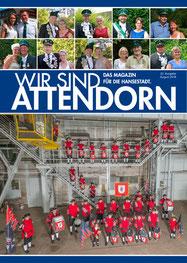 Das Cover des Stadtmagazins Wir sind Attendorn Ausgabe August 2018
