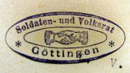 """Stempelabdruck """"Soldaten- und Volksrat"""", StA Göttingen"""