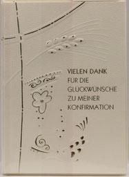 Karte zur Konfirmation Einladung Ähren