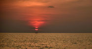 Sonnenuntergang am Meer von Kambodscha