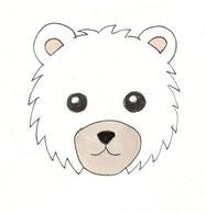 Eisbär Zeichnung Kinderpullover Applikation GOTS