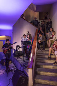Staircase Concert with Hartje/Growe/Land in Vilnius. Photo: Open House Vilnius