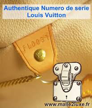 numero serie louis Vuitton sac