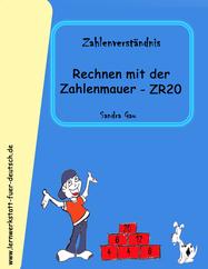 Zahlenmauer Übungen, ZR20 üben, plus und minus bis 20