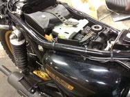 EVOTECバイク用バッテリーカットオフスイッチ装着例 W800