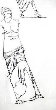 Venus von Milo, Zeichnung