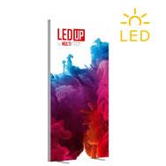 Transportable LED-Leuchtwand mit Textilgrafik LED UP