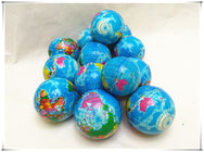 PU Squishies Globe Balls with Full Colors Printings