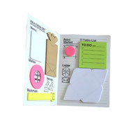 post it pad, die cut post it, sticky pad