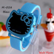 Montre LED Hello Kitty bleue