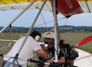 Départ en vol pour des membres d'Aérorétro