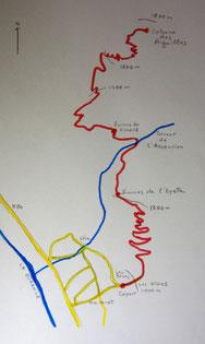 Plan du parcours.