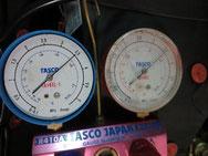 冷媒配管 耐圧漏れ試験中