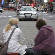 Times Square 2008: Who's watching the watchers? Image by Tom G.