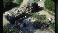 Müllabfuhr in Tirana
